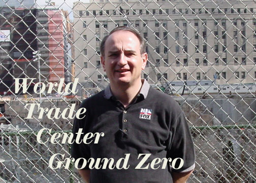Deacon Bon on location at World Trade Center Ground Zerio